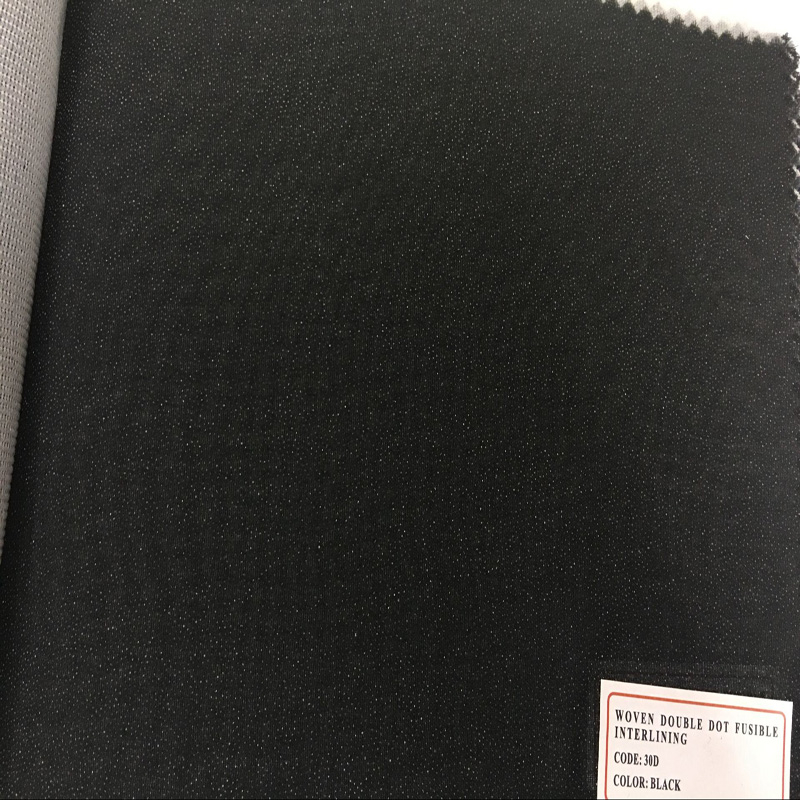 Good Quality Customize Color Woven Double DOT Fusible Interlining for Shirts Accessories
