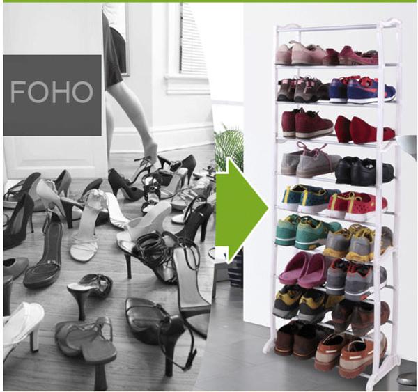 New Design Plastic Shelf Fold Waterproof Shoe Rack
