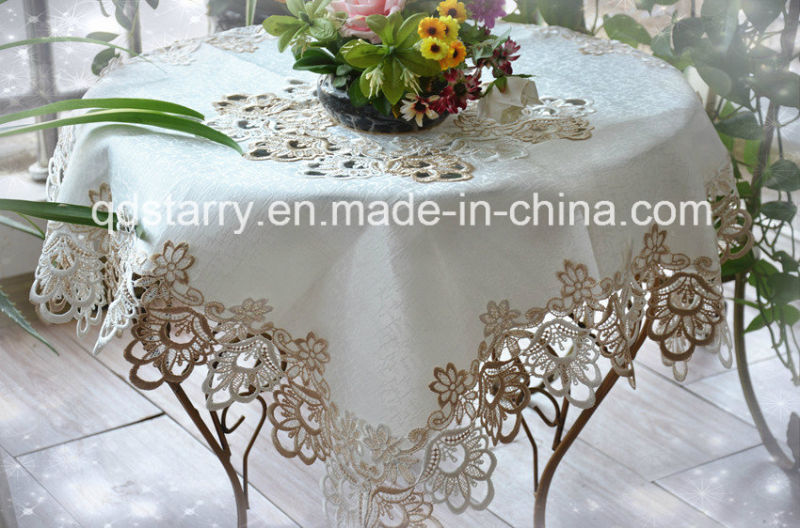 M9999 Polyester Table Cloth with Laces Border