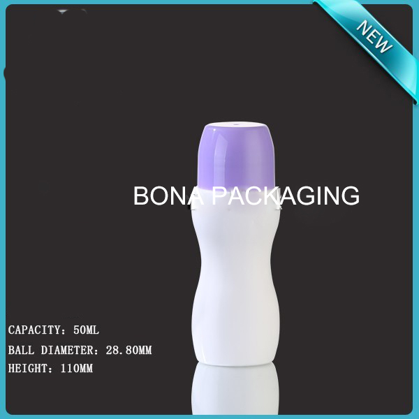 Hot Sale Plastic Bottle with Plastic Roll on Ball