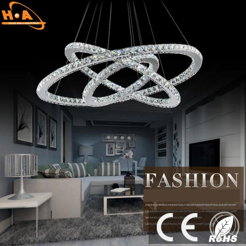 European Style Crystal Pendant Lamp LED Chandelier Light