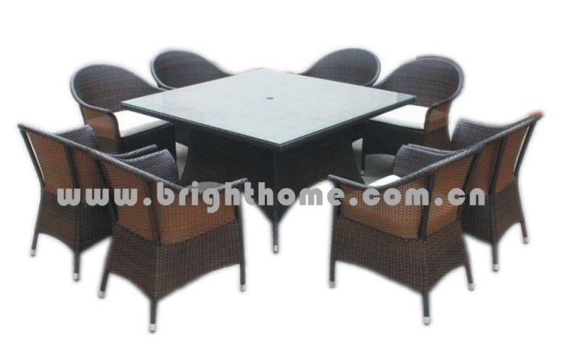 Rattan Weaving Wicker Outdoor Furniture Dining Set Bg-Mt019
