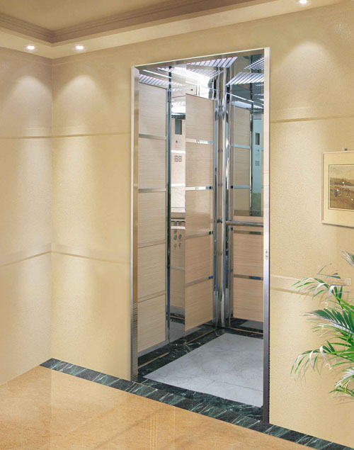 Ce Golden Color and Stable Passenger Lift Without Machine Room