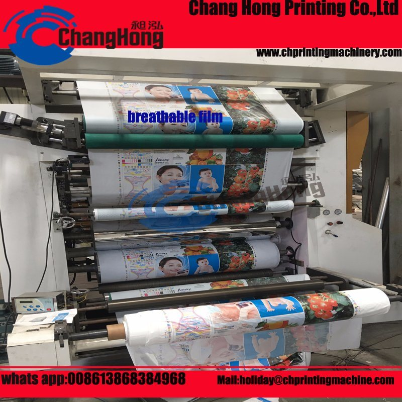 Satellite 6 Colours Single Side Central Drum Flexo Printing Machine Printed Paper/Film/Plastic (CH802 series)