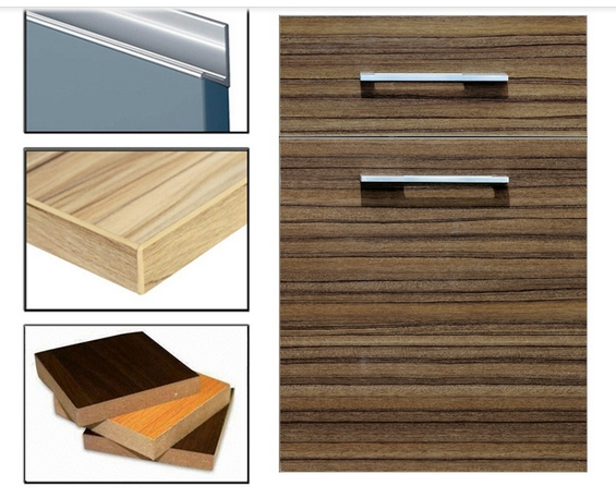High Glossy Plywood UV Paiting Woodgrain Kitchen Cabinet Doors (Any MOQ)