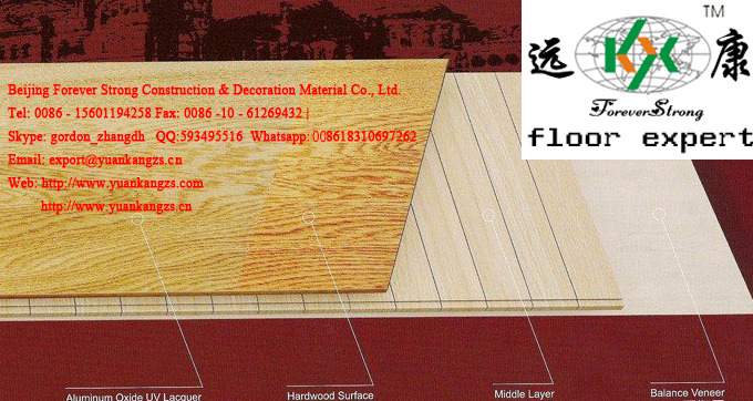 3-Layer Natural Color Oak Engineered Wood Flooring