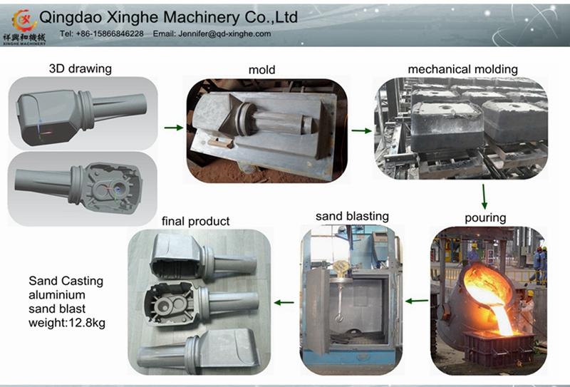 Custom Engine Parts Aluminum Sand Casting with Deburring