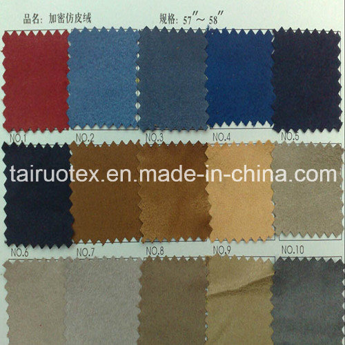 Embroidered Micro Suede for Lady Fashion Clothes Fabric