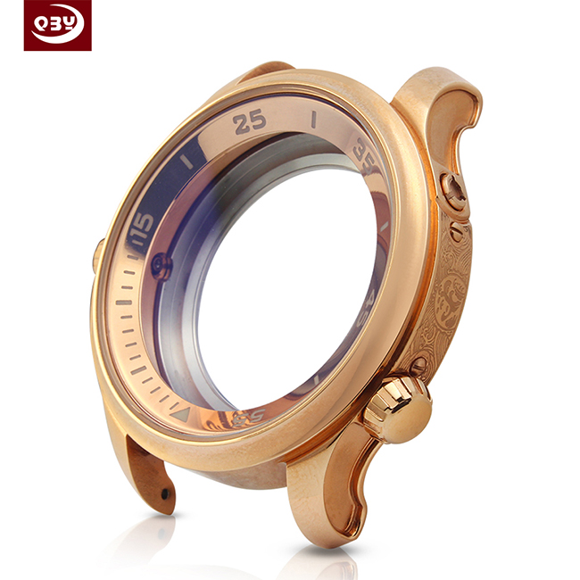 Round Electroplated Rose Gold Watch CNC Machined Part