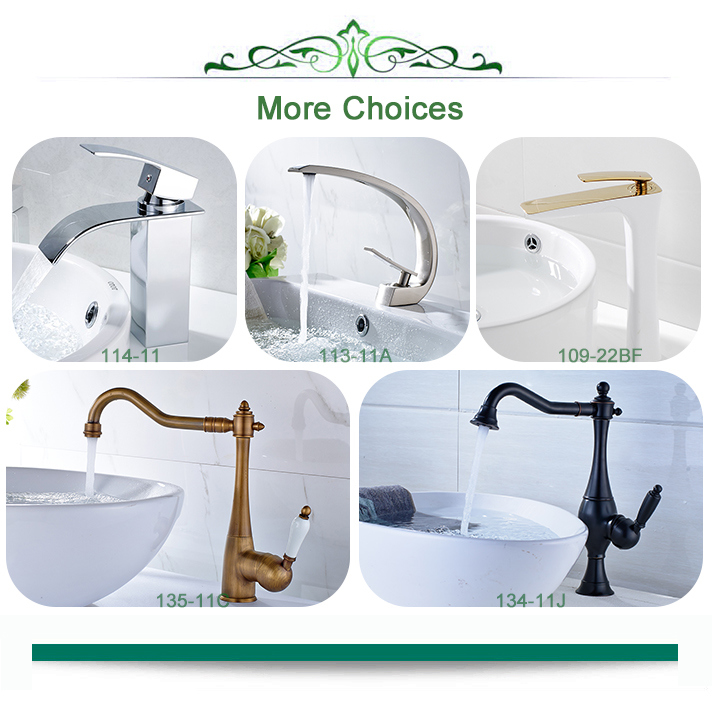 FLG White Painting Brass Single Handle bathroom Basin Tap