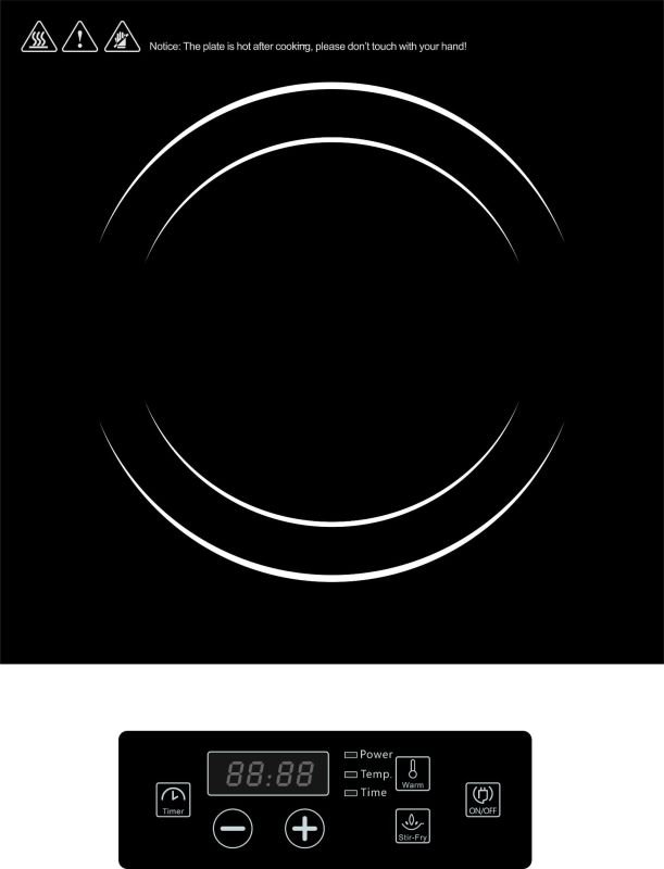 CE RoHS ETL cETL Approved High Power Commercial Induction Cooktop Model SM-A83
