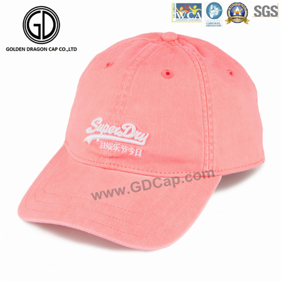 Wholesale High Quality 100% Cotton 6 Panel Cotton Golf Baseball Cap with Embroidery Logo