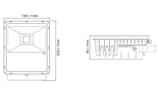 5-Year Warranty 50W COB LED Reflector Waterproof LED Light Reflector