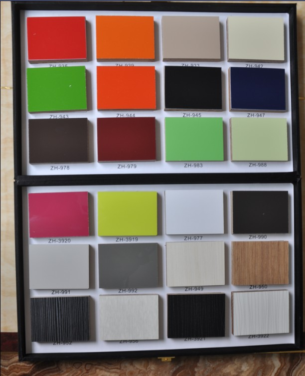 Glossy Woodgrain Laminate MDF Panels with Many Colors to Choose (4'x8')
