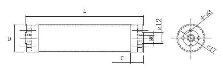 20 W dickschichtiger zylindrischer Leistungswiderstand