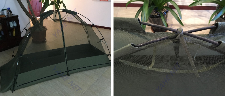 1 Person Camoflage Dome Camping Tent with Mosquito Net