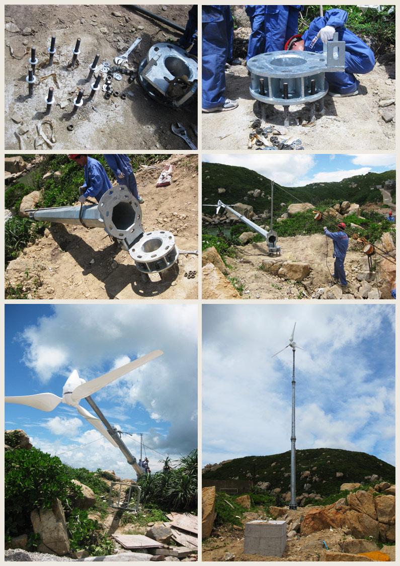5000W Mini off Grid Wind Generator/Wind Turbine/Wind Power Energy