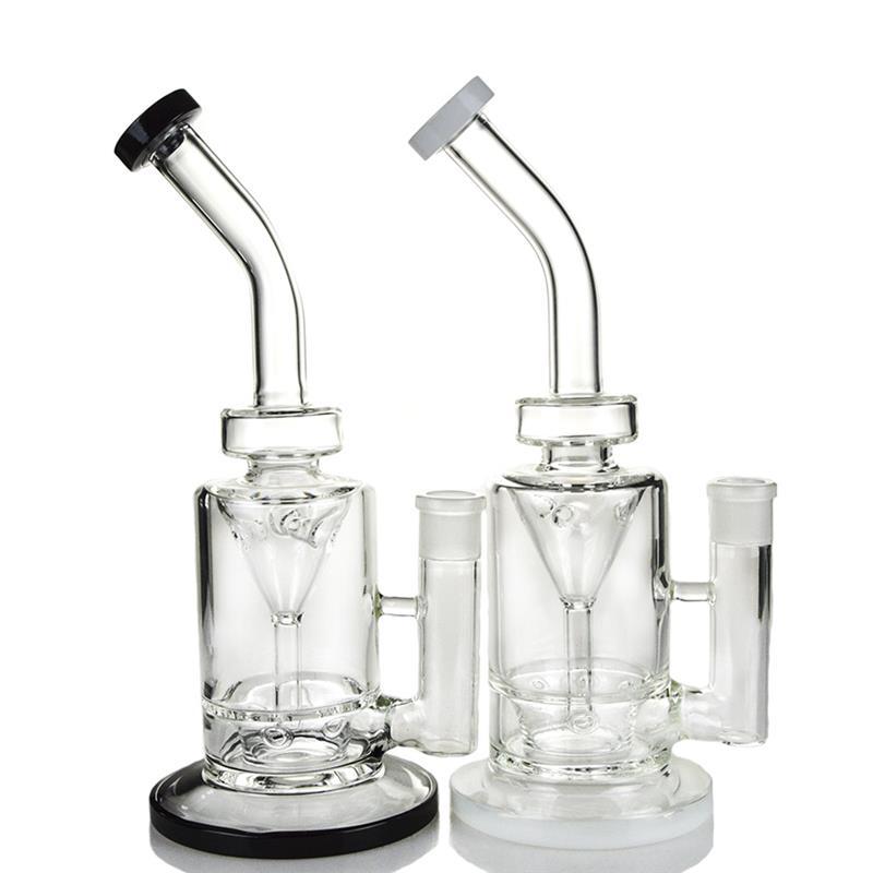 Saucer Perc Incycler Black Hookah Glass Smoking Water Pipes (ES-GB-365)