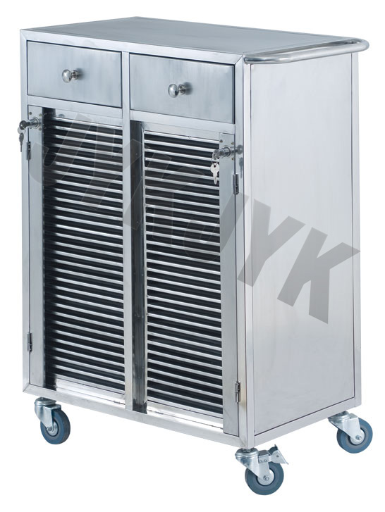Stainless Steel Cart for Medical Record Holders