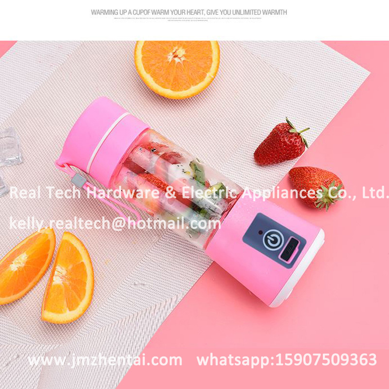 Hand Shaking Home Appliances Car USB Juicer & Smoothie Maker, Mini Travel Juice Blender