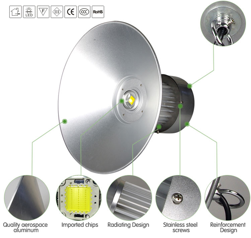 Good Quality Project Epistar 100W LED High Bay Light for Workshop/Warehouse