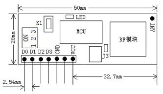 5km Long Range RF Receiver Module Kl-Bt01
