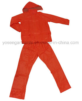 Adult's Waterproof Fluorescent Rainsuit Raincoat Rainwear Polyester Workwear (RWA07)