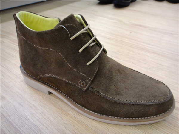 Suede Lace Mens Ankle Boots Dark Grey (NX 507)