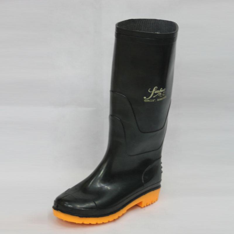 Work Rain Boots (Black upper/Yellow Sole)