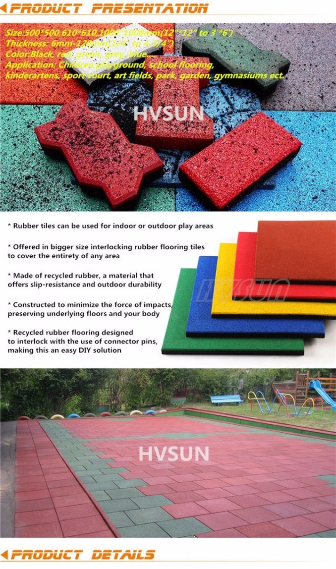 New Generation Roll of Rubber Mat with EPDM Flecks Roll Recycled Colorful Rubber Flooring