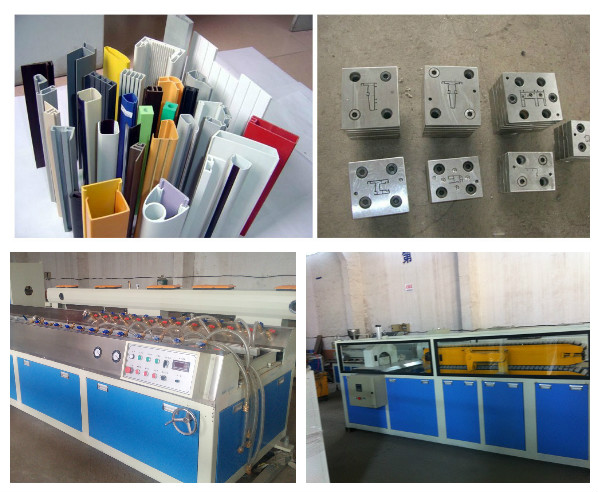 PVC Plastic Profile Production Extrusion Machine Line