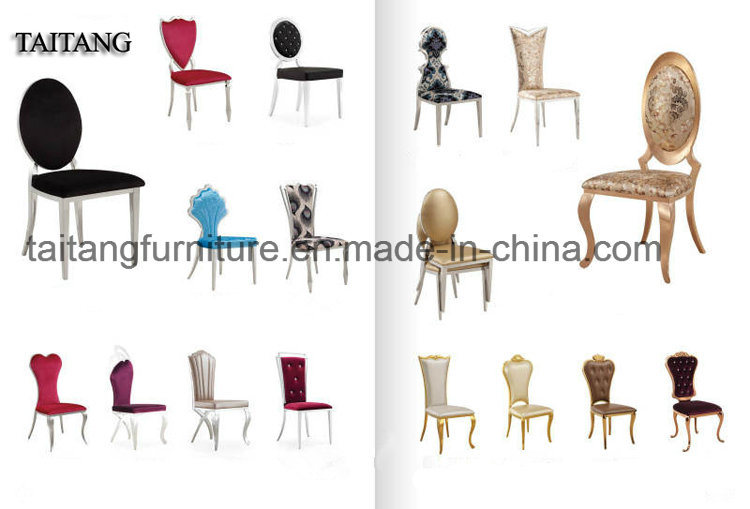 Hotel Use Wedding Banquet Stainless Steel Dining Chair