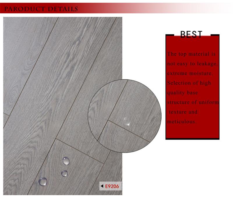 Wax Coating E1 V Groove HDF Laminated Floor