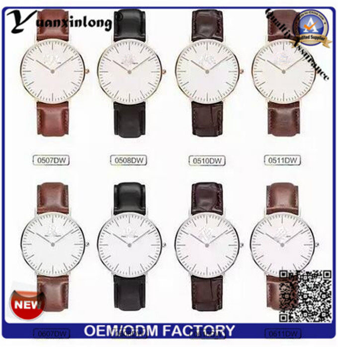 Yxl-655 Chinese Wholesale Genuine Leather Watches for Men, Luxury Watches Men, 3 ATM Waterresistant Mens Watches