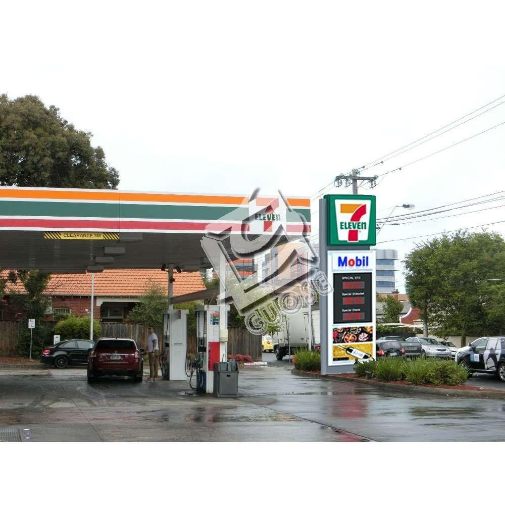 Gas Station Sign Board Pylon Signage Maker Gas Station Advertising