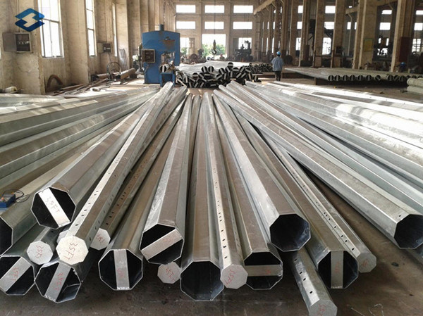 Q345 Hot DIP Galvanized Steel Pole