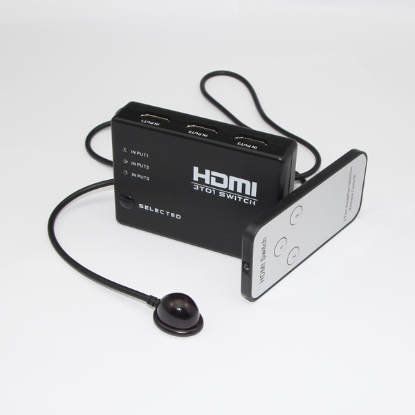 3X1 HDMI Switcher with Remote Control