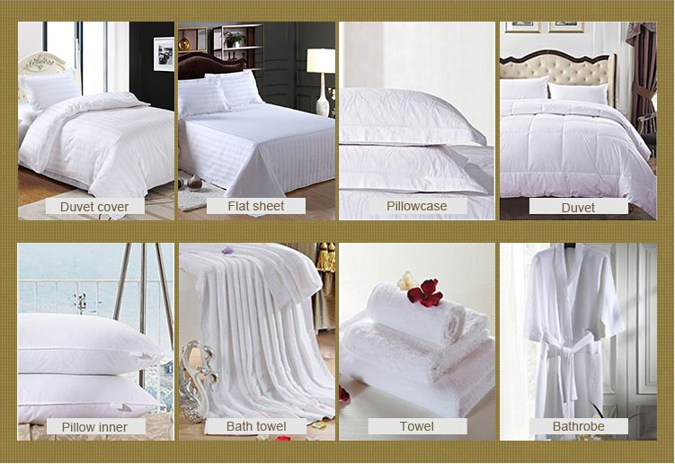 100% Egyptian Cotton 600tc Cotton Percale Crisp White Bedding Linen (DPFB8087)