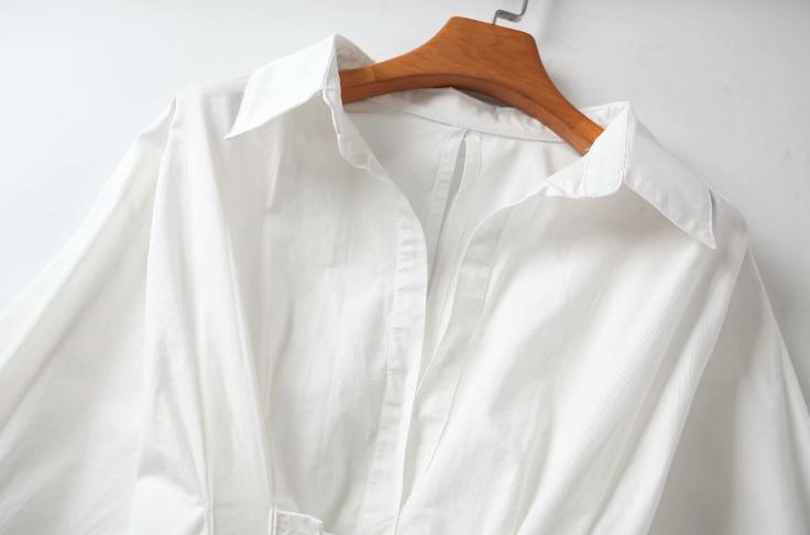plus size white oversize ladies women casual shirt dresses