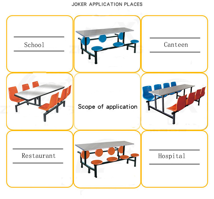 Comfortable Restaurant Furniture Stable School Dining Table and Chair