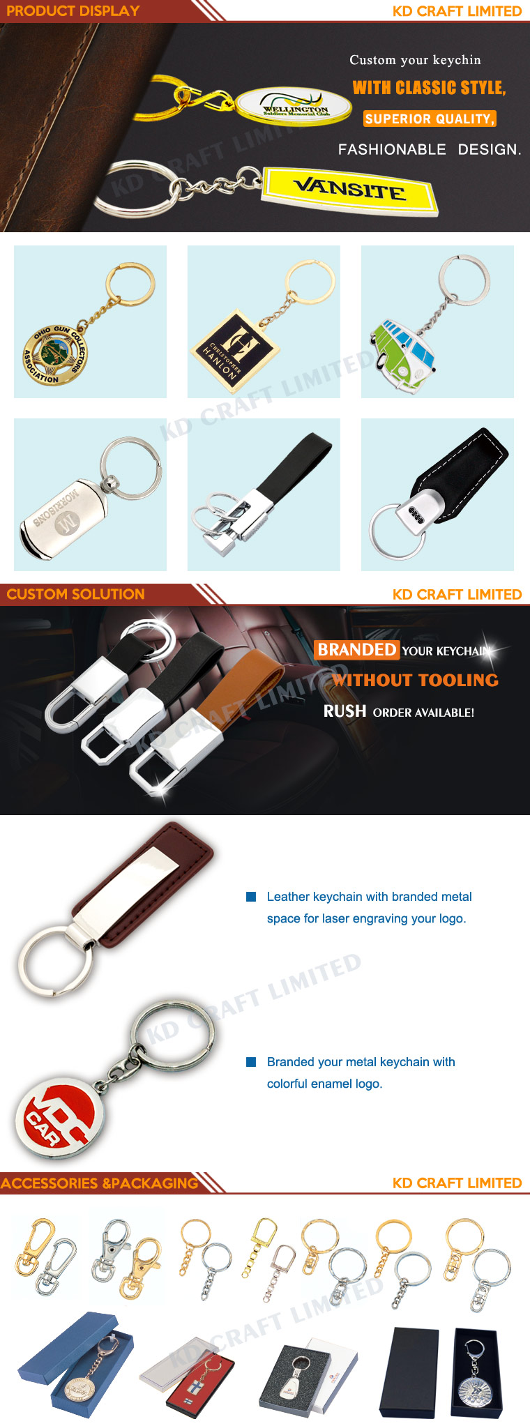 High Quality China Wholesale Leather Key Ring or Chain From China
