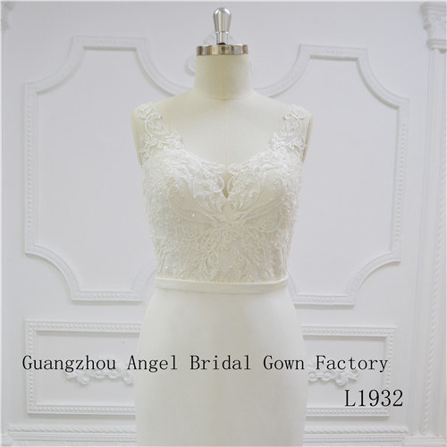 U Neck Pretty Fachion Bridal Dress