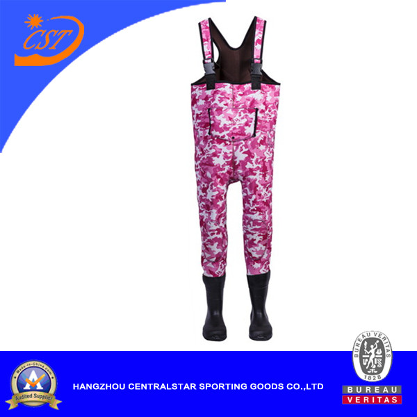 Pink Camo Neoprene Chest Wader for Kids