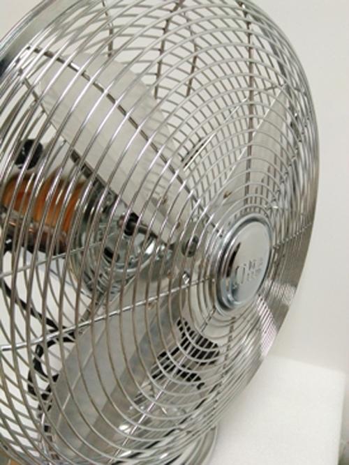 Fan-Plating White Metal Fan