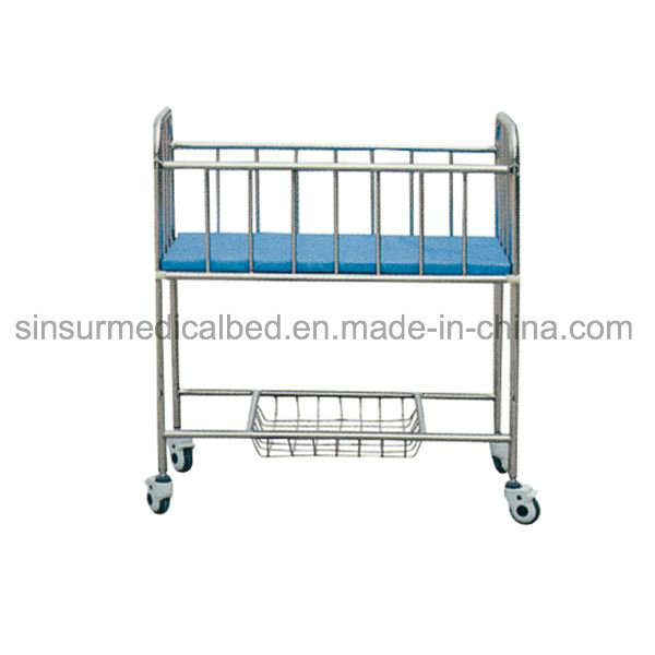 Hospital Used Baby Cot Luxury ABS New Born Baby Trolley/Crib