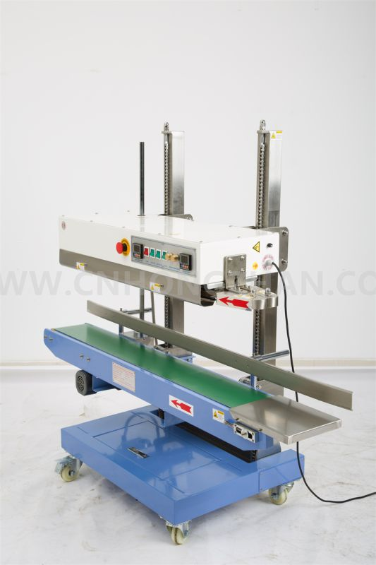 Hongzhan CBS1100V Continuous Band Sealer Machine for Big Pouch Vertical Sealing
