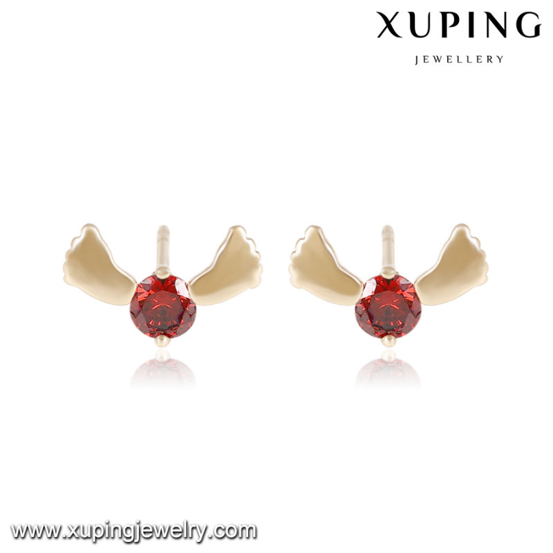 25472 Fashion Elegant Single Stone Cute Foot Jewelry Girl Earring