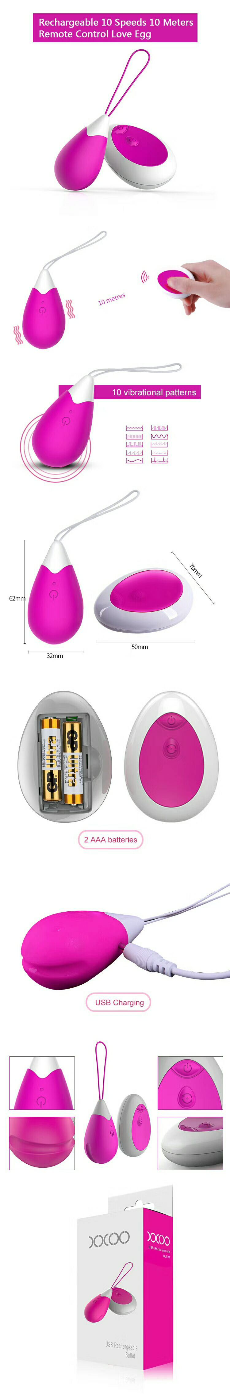 Female Vagina and Clitoris Stimulating Jump Eggs Sex Toy