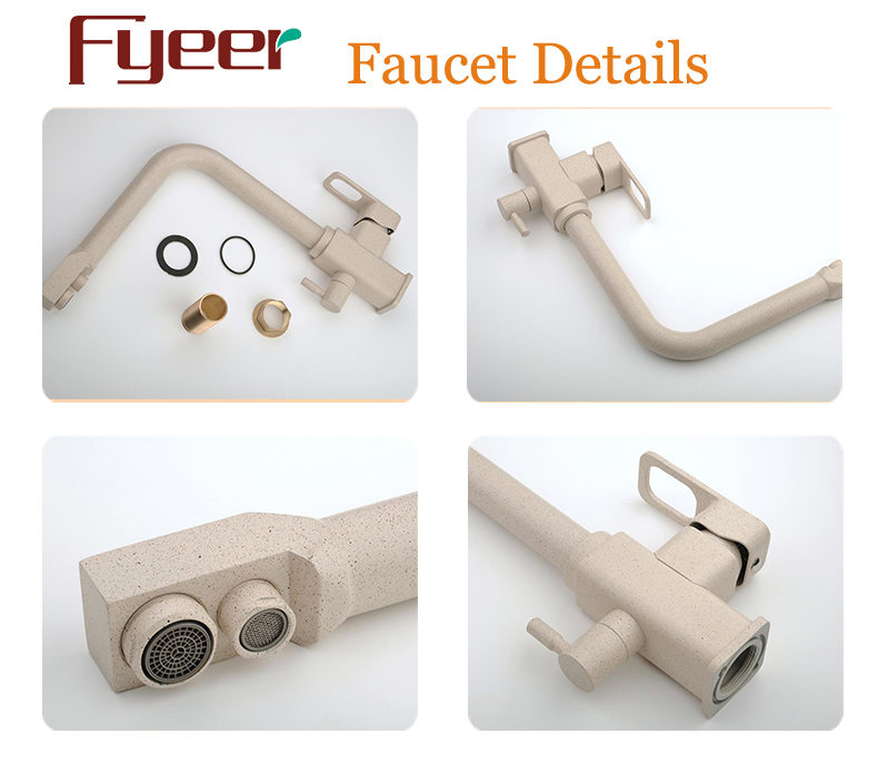 Fyeer Modern 3 Way Brass Kitchen Filter Faucet