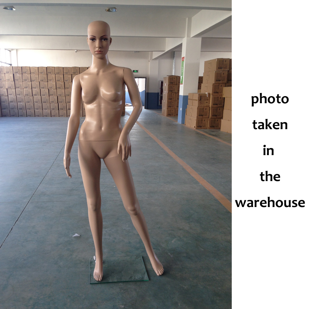 Female Full Body Realistic Mannequin Display Head Turns Dress Form Wbase